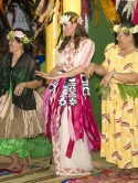 Kate Middleton teams Temperley dress with grass skirt to dance with locals on Diamond Jubilee Tour