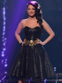 Its all about the sexy skater dress on The X Factor