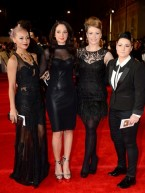 The X Factor contestants join Daniel Craig at Skyfall world film premiere in London
