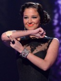 Tulisa Contostavlos shows off nicotine patch on The X Factor after Gary Barlow insults her 'fag ash breath'