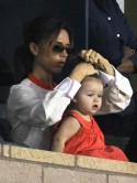 Victoria Beckham and Harper Seven cheer on David at LA Galaxy game with Gordon Ramsay and Russell Brand