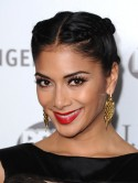 X Factor's Nicole Scherzinger plaits up for awards dinner