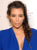 Kim Kardashian's messy plait