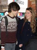 X Factor finalists Ella Henderson and Union J's George Shelley snapped holding hands on evening stroll