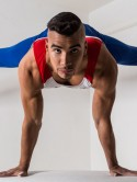 Strictly Come Dancing contestant Louis Smith shows off sexy muscles and huge back tattoo in 2013 calendar