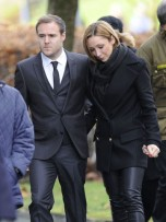 Alan Halsall and Lucy-Jo Hudson | Bill Tarmey's Funeral | Pictures | Photos | New | Celebrity News