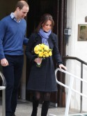 Pregnant Kate Middleton goes home with Prince William