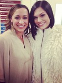 Jessie J has fun with 'twin' Jessica Ennis 