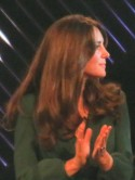 Kate Middleton's hair looks bloomin' gorgeous for her appearance with David Beckham