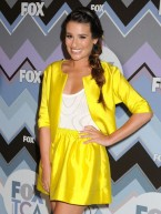 Lea Michele makes style statement at star-studded FOX party with Glee cast
