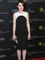 Downton Abbey's Michelle Dockery joins Hollywood stars BAFTA Tea Party 2013