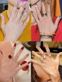 Cool celebrity nail art - stars rock hot designs