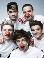 One Direction and stars get ready for Comic Relief's Red Nose Day