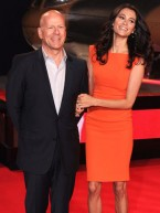 TV stars join Bruce Willis at A Good Day To Die Hard film premiere in London