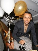 Aston Merrygold celebrates birthday at surprise party thrown by girlfriend Sarah Richards with JLS