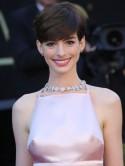 Anne Hathaway's nipples steal her Oscar limelight