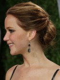 Jennifer Lawrence's elegant low bun is an Oscar hit