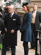 Baby on board: Pregnant Kate Middleton joins the Queen on London Underground