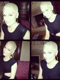Birthday hair makeover! Jessie J dyes bald head blonde