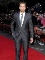 TV stars join Gerard Butler at Olympus Has Fallen film premiere in London 
