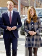 Pregnant Kate Middleton hides baby bump under chic tartan coat in Scotland with Prince William