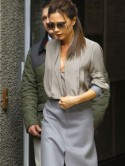 It�s a grey day for Victoria Beckham at the Vogue Festival