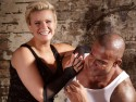 Kerry Katona plays Mr and Mrs with fiance George Kay