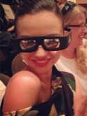 Cute! Miranda Kerr shares snap wearing 3D glasses at Great Gatsby screening