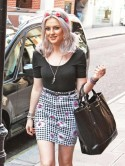 Little Mix star Perrie Edwards gives the monochrome trend a boho twist in London