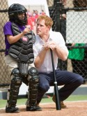 Prince Harry shows off his baseball skills with kids in New York