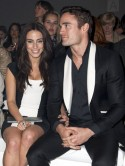 New couple Jessica Lowndes and Thom Evans dress up for F&F fashion show