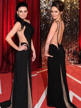 SNAP! Claire Cooper and Lucy Pargeter wear same sexy dress to British Soap Awards! Who wore it best?