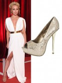 Hollyoaks' Jorgie Porter teams Grecian gown with �29.99 Quiz heels for British Soap Awards 2013