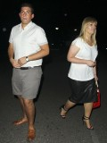 Arg is spotted with gorgeous companion in Spain