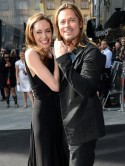 Angelina Jolie and Brad Pitt hold hands at the London premiere of new movie World War Z