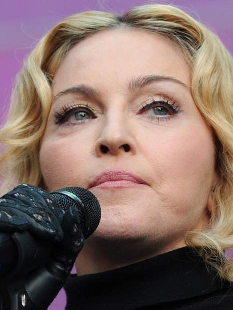 Madonna hairy face