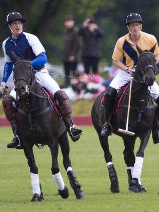 Prince William leaves pregnant Kate Middleton at home to play polo with brother Prince Harry
