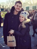 Ooh! Tanya Burr tries on wedding dresses and 'can't wait' to marry Jim Chapman